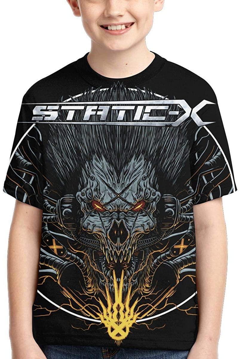 Aiyuke Unisex Young T Shirt Static-X Child Shirts Tees