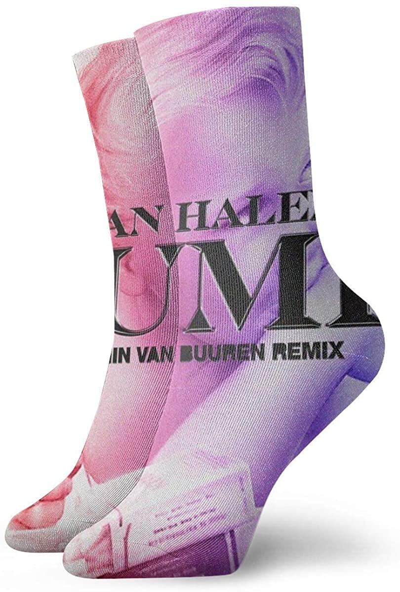 Van Halen Men's Cotton Work Gear Crew Socks Cushioned, Wicking, Durable