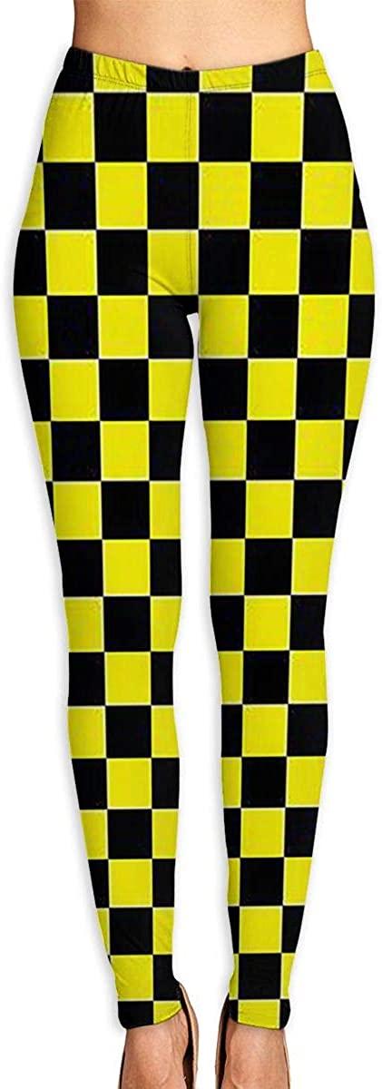 Apuiutw Checkerboard Women Funny Print Yoga Leggings Pants Workout Fitness Pants Sports Gym Yoga Quick Dry Capri Leggings