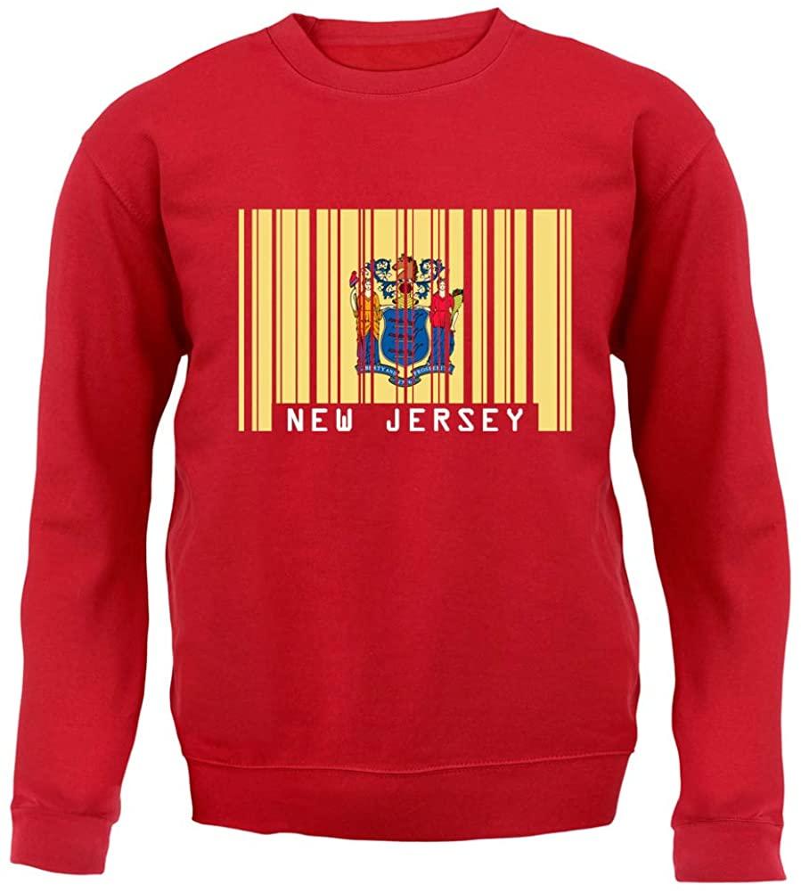 Dressdown New Jersey Barcode Style Flag - Unisex Crewneck Sweater/Jumper
