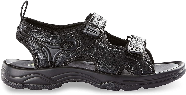 Propét Reef Walker Sandals, Black, 10 EW