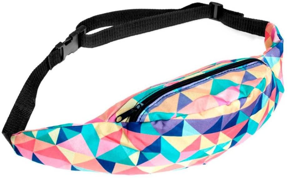 Rakkiss Fashion Sports Hiking Running Belt Waist Bag Pouch Zipper Colorful Fanny Pack