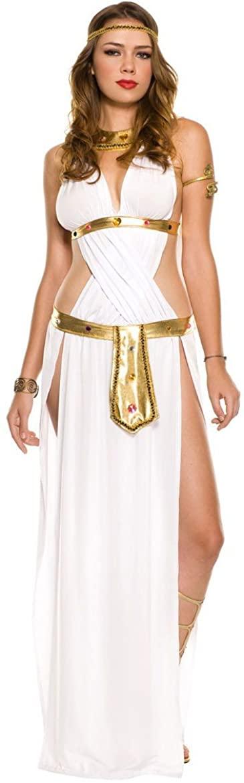 PINSE Egyptian Roman Greek Goddess Halloween Sexy Goddess Costume