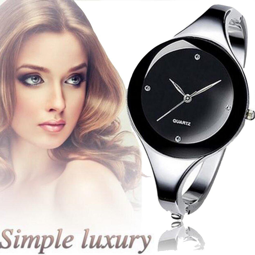 Wish hot sales section Korean fashion quartz bracelet watch women fashion trendy leisure fashion watch (black)