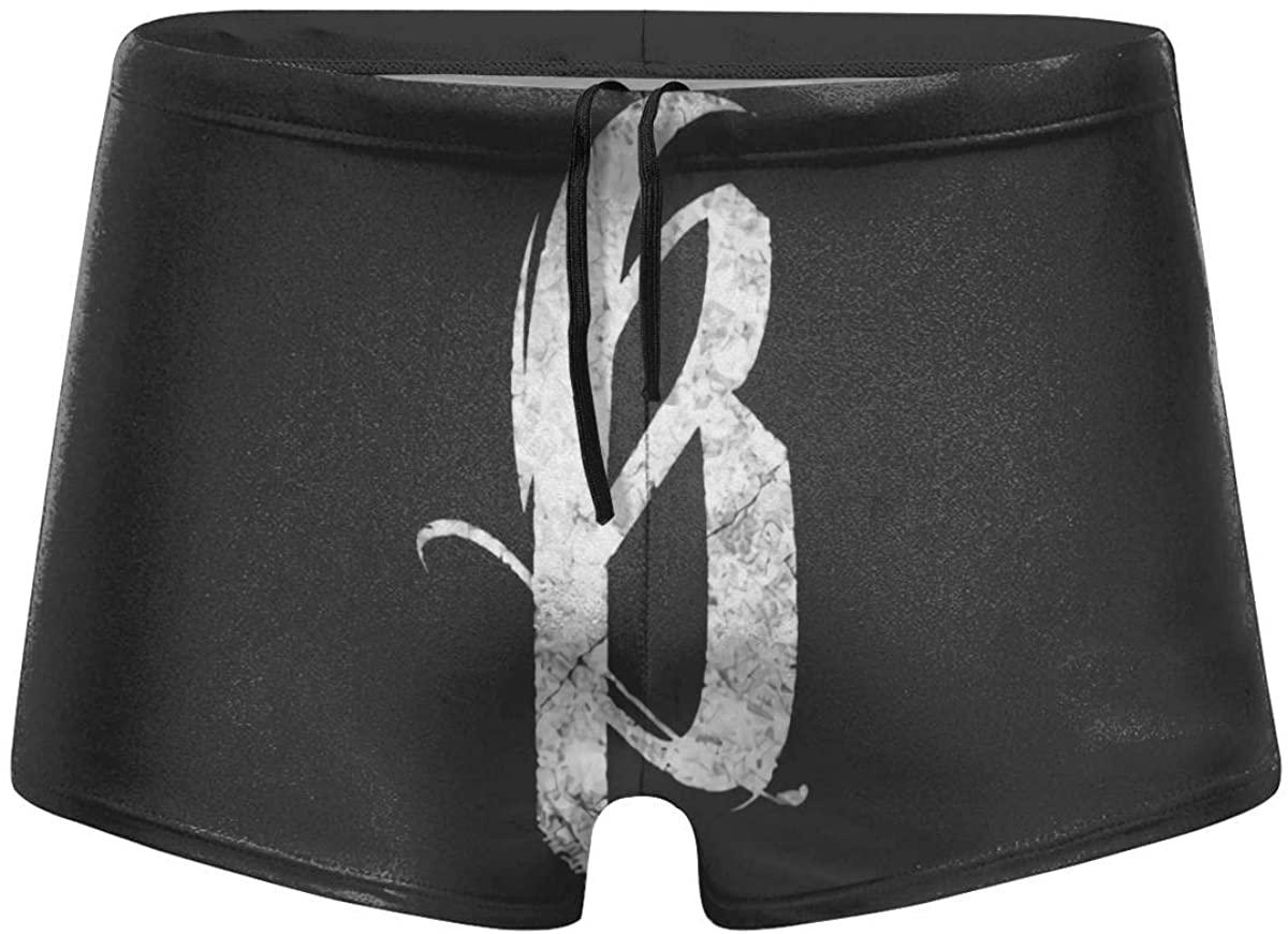 Kelo Breakdown of Sanity Logo Men's Comfortable Breathable Quick-Drying Swimsuit Swimming Shorts Black