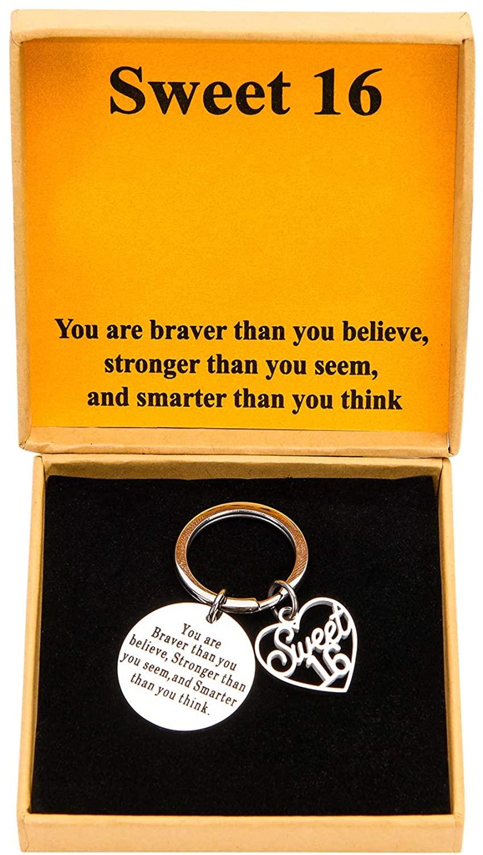 Ldurian 12th 13th 16th 18th 21th 30th 40th 50th 60th Birthday Keychain Birthday Gift for Women Birthday Jewelry Inspirational Gifts