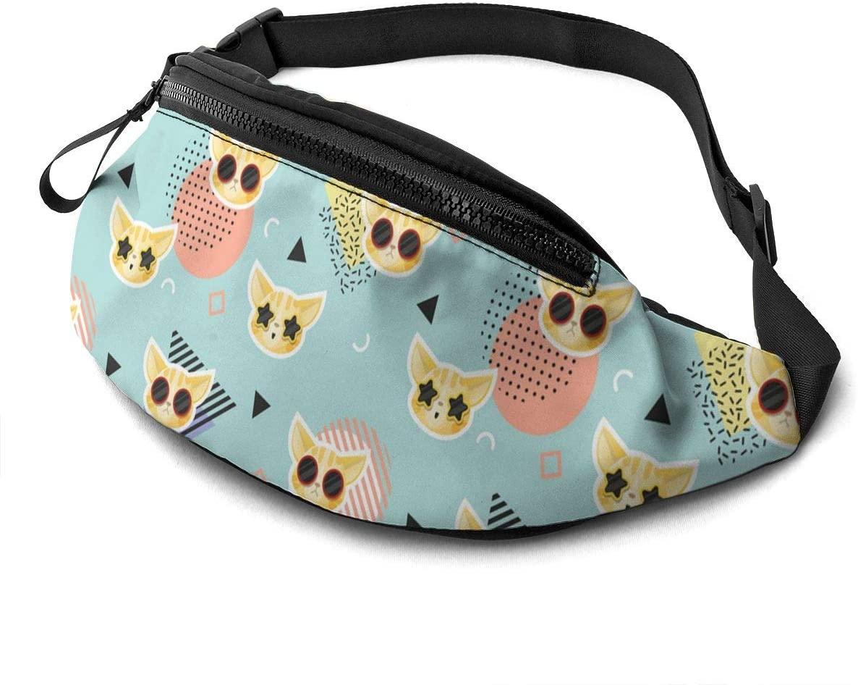 Cat Pattern Fanny Pack Fashion Waist Bag