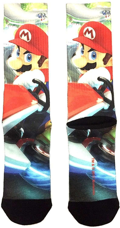 Nintendo Super Mario Bros Mario Kart 8 Sublimated Crew Socks