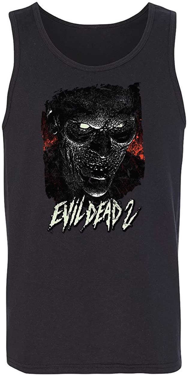 RIVEBELLA New Graphic Shirt Horror Movie Novelty Tee Evil Men's Tank Top