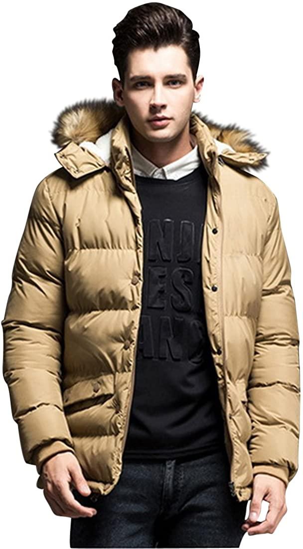 fashciaga Men's Two Wearing Ways Winter Warm Down Jacket