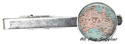 AllMapsupplier Charming Tie Clip,Australia map Tie Clip Tie Pin,Australia map Tie Clip,Australia Tie Clip Tie Pin,map Jewellery Australia Tie Clip,A0224