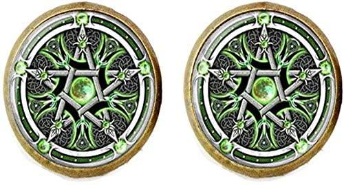 Wiccan Pentagram Earring Pentagram Wiccan Jewelry Pagan Religion Wiccan Pentagram Jewelry
