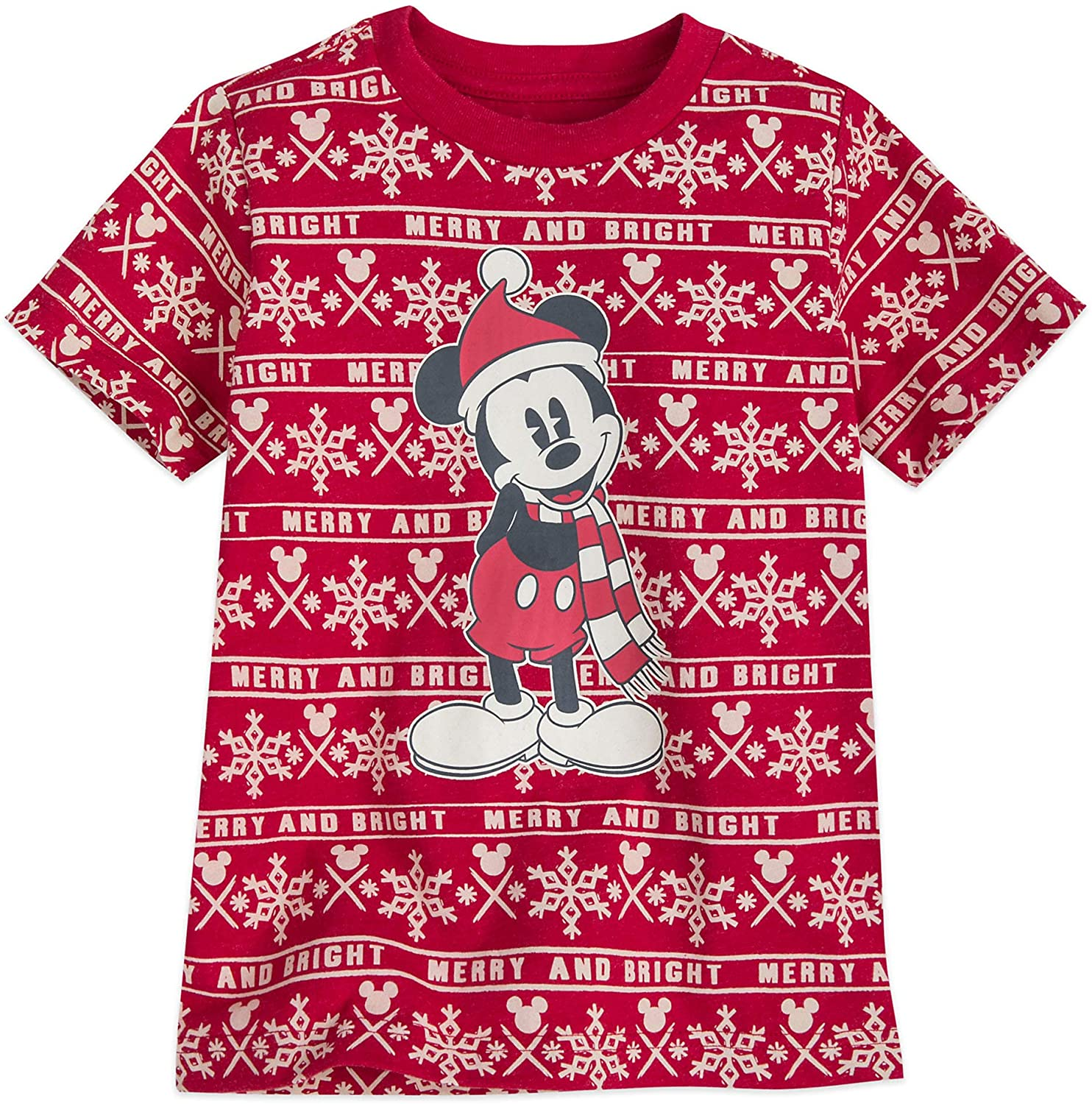 Disney Mickey Mouse Holiday Cheer T-Shirt for Boys Multi