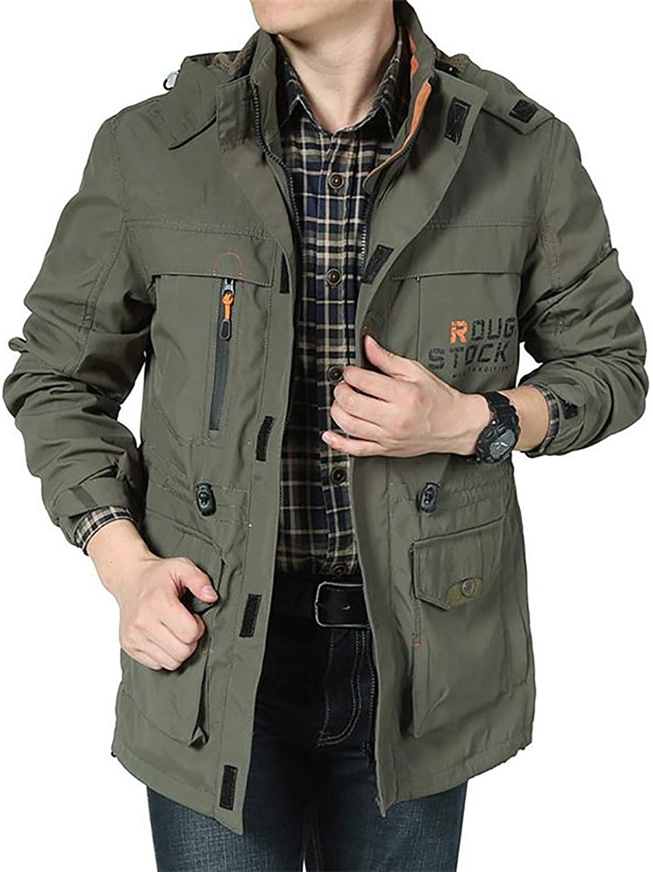 Ivan Johns Coats Bomber Jacket Men Autumn Winter Multi-Pocket Waterproof Military Tactical Jacket