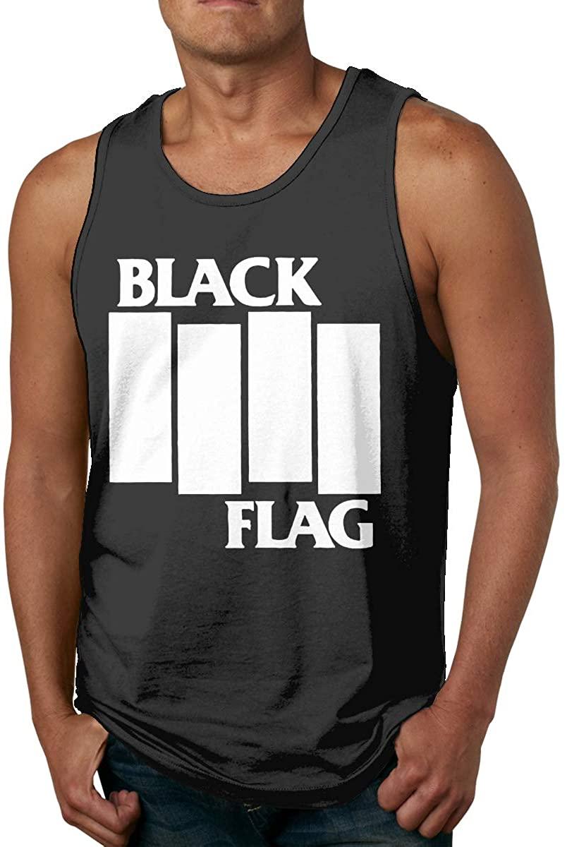 Black Flag Men Comfort Funny Cool Cotton Tank Top Shirt