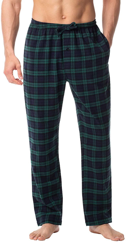 LAPASA Men's 100% Cotton Woven Flannel Pajama Lounge Sleep Pants Plaid PJ Bottoms w Pockets and Drawstring 2019 Version