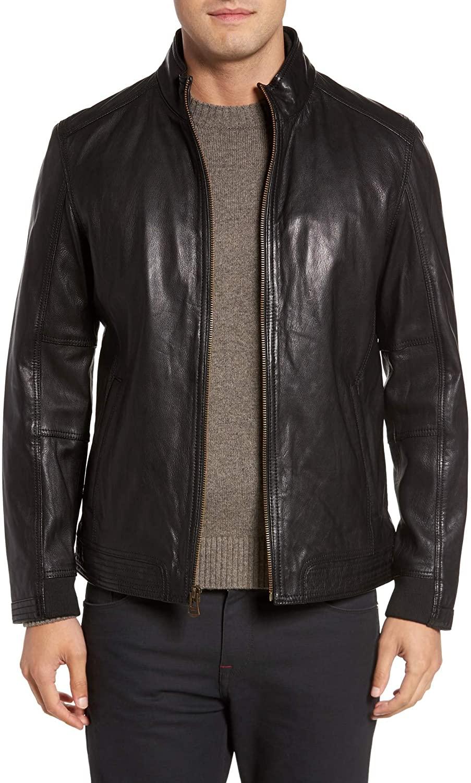 Men's Genuine Lambskin Leather Jacket MJ 136