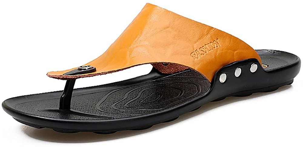 ZPPTX Summer Casual Men's Non-Slip Beach Shoes Flip Flops Thong Sandals
