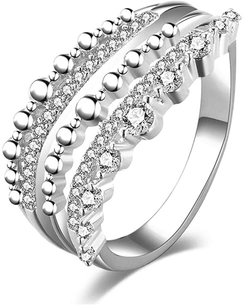 YAZILIND AAA CZ Eternity Anniversary Wedding Band Cubic Zirconia Engagement Ring