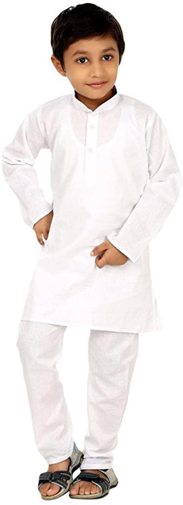 ROYAL Boy's Solid Kurta Pyjama for Kids