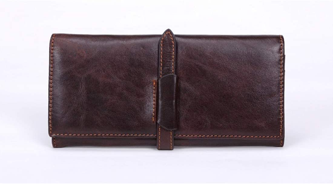 WENNEW Folded Wallet with Wallet Zipper Foresighted Wallet Made of Male Leather Multi Function