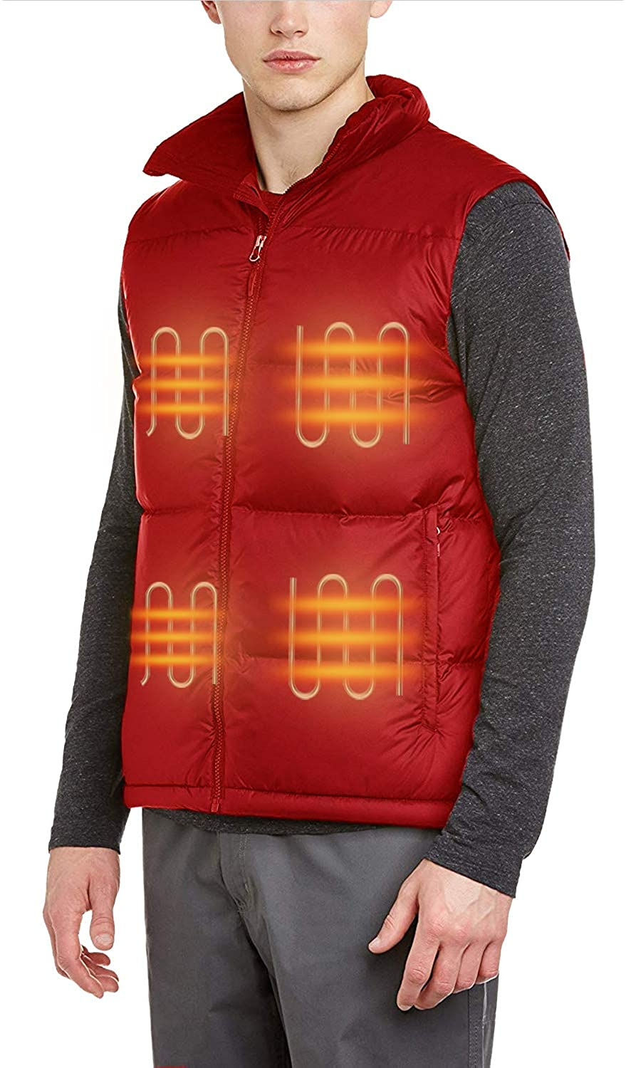FERNIDA Electric Heated Vest Body Warmer Unisex Heating Vest Jacket Sport Outdoor Clothes(Battery Included)