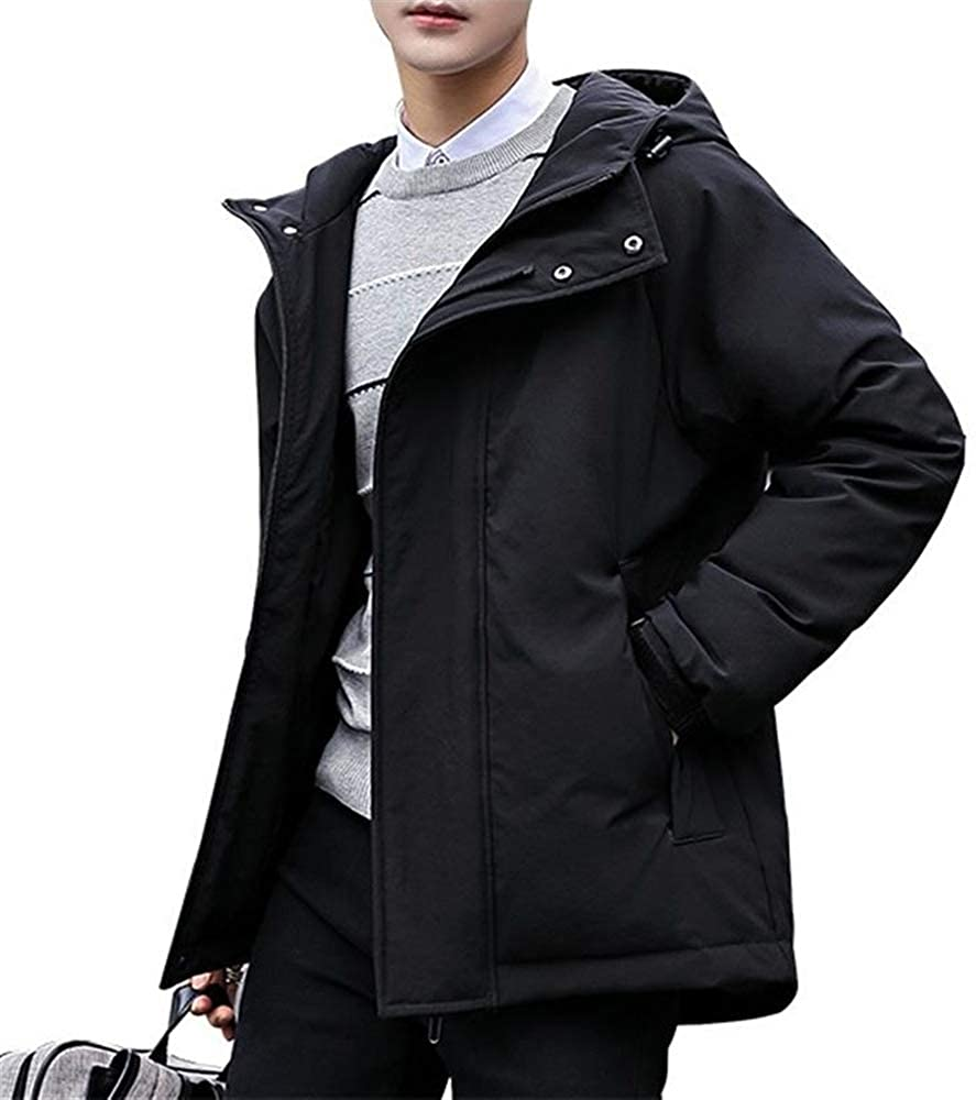 Wehor Winter Men Fashion Short Thicken Casual Loose Hooded Warm Duck Down Jacket