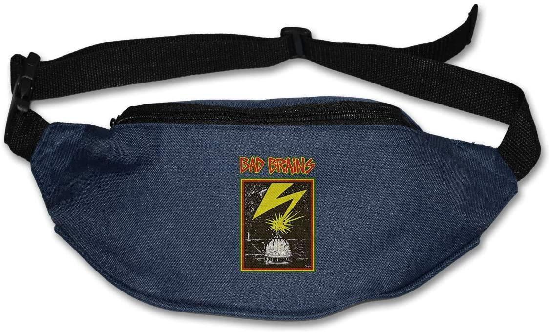Ssxvjaioervrf Bad Brains Running Belt Waist Pack Runners Belt Fanny Pack Navy