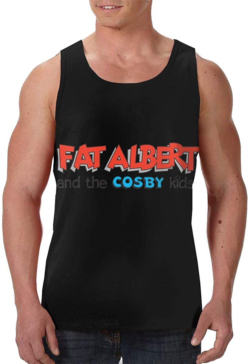 AMZOPDGS Fat Albert and The Cosby Fashion Men's Vest Sleeveless Round Neck Comfortable Soft T-Shirt
