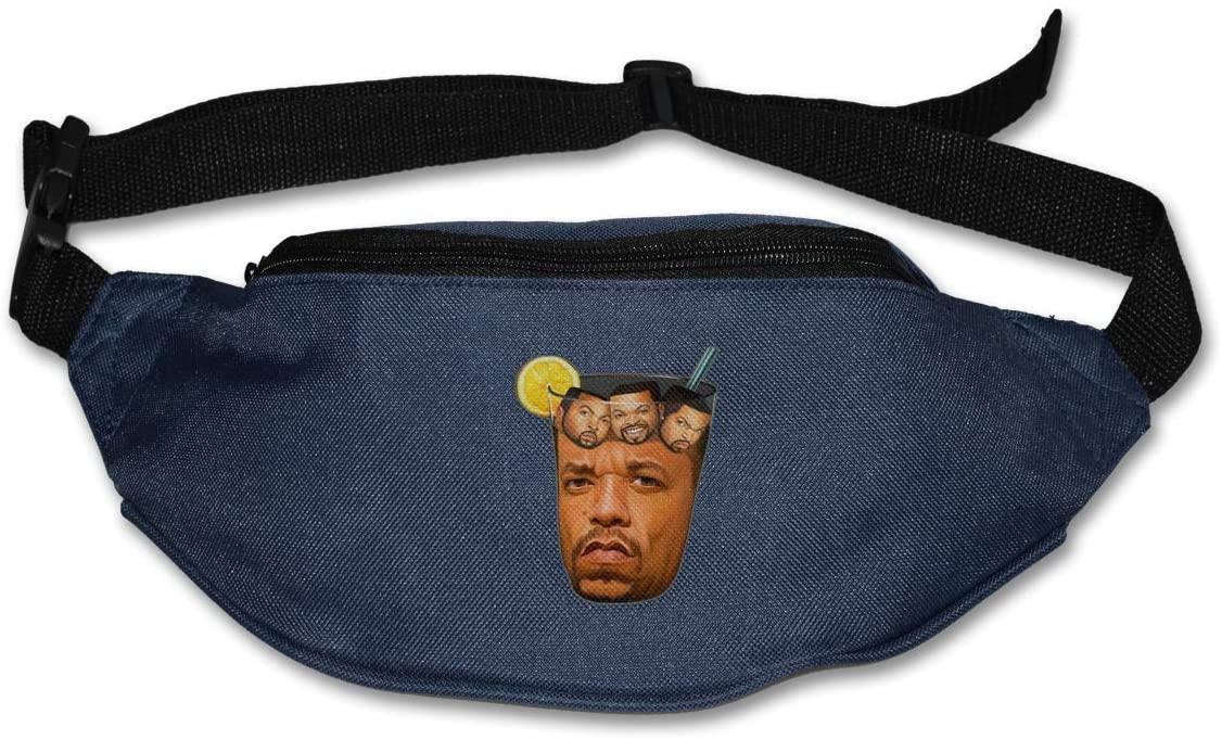 Ssxvjaioervrf SVU Ice Cube in Iced Tea Running Belt Waist Pack Runners Belt Fanny Pack Navy