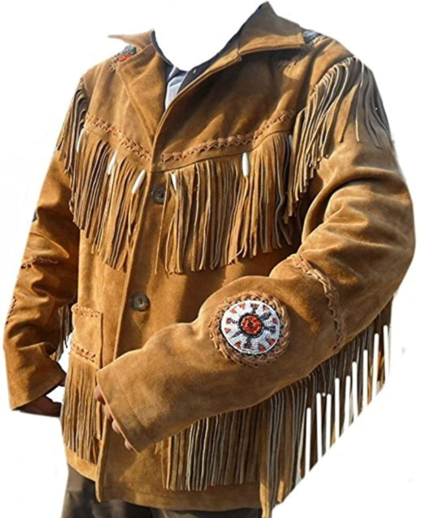 COCOBEE Western Cowboy Real Suede Leather Jacket with Fringe for Sale Quality Jackets