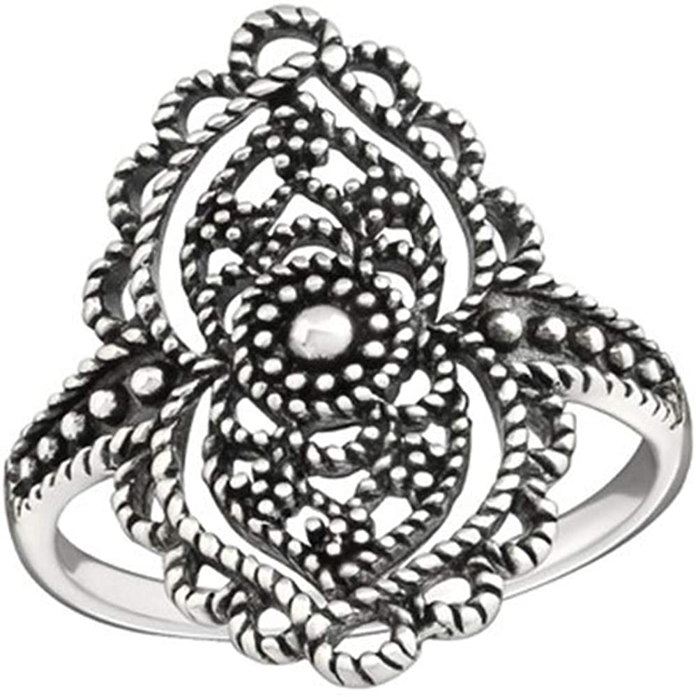 Caratera Antique Plain Rings 925 Sterling Silver