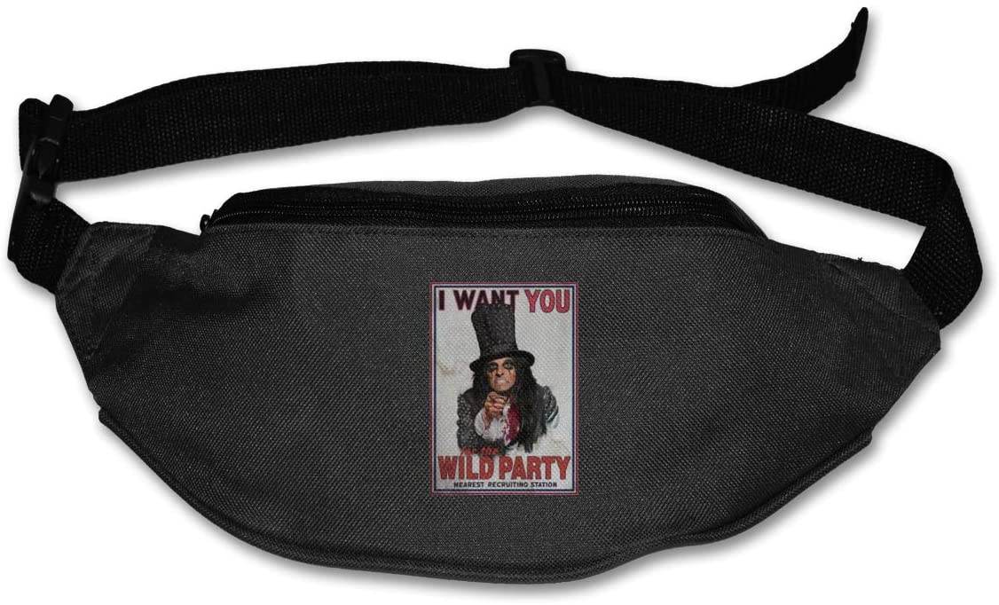Luomingg Alice Cooper I Want You Purse Belt Bag Runner's Waist Pack