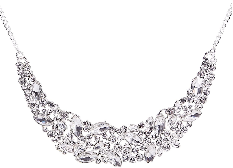BaubleStar Statement Bling Rhinestone Crystal Collar Necklace Fashion Chunky Jewelry