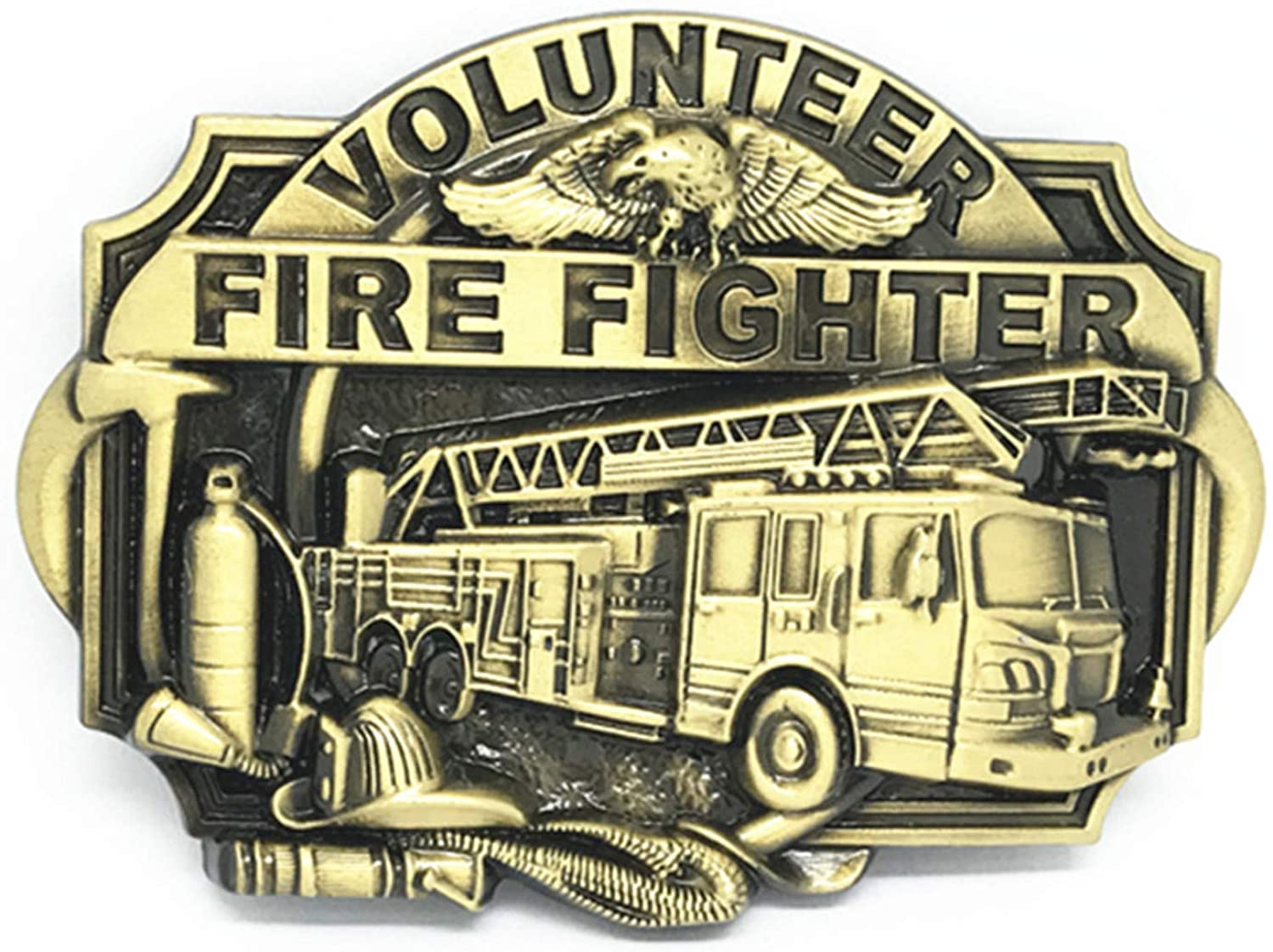 Western Buckle The FIRE The FIRE FIGHTER Bronze Wear-Resisting Zinc Alloy Is Suitable For 4.0 Belt