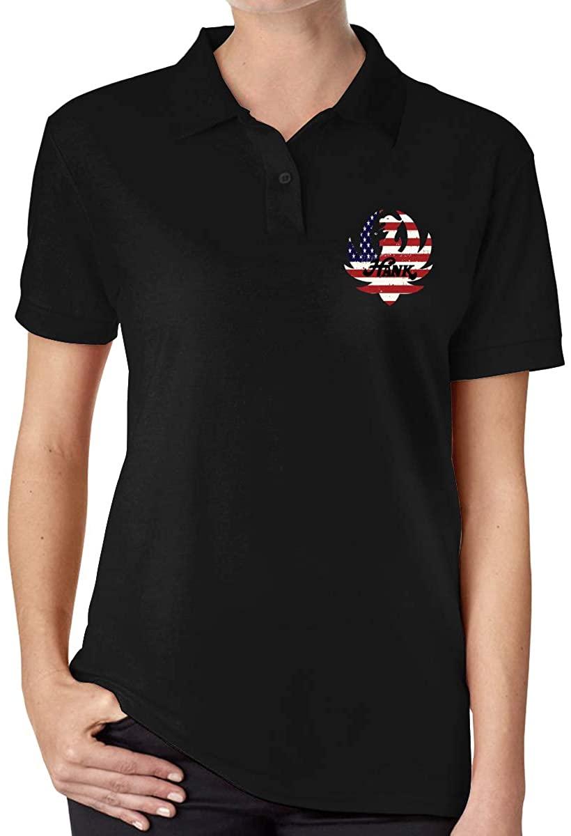 Hank Williams Jr Fashionable Ladies High-End Polo Shirt Short Sleeve T-Shirt