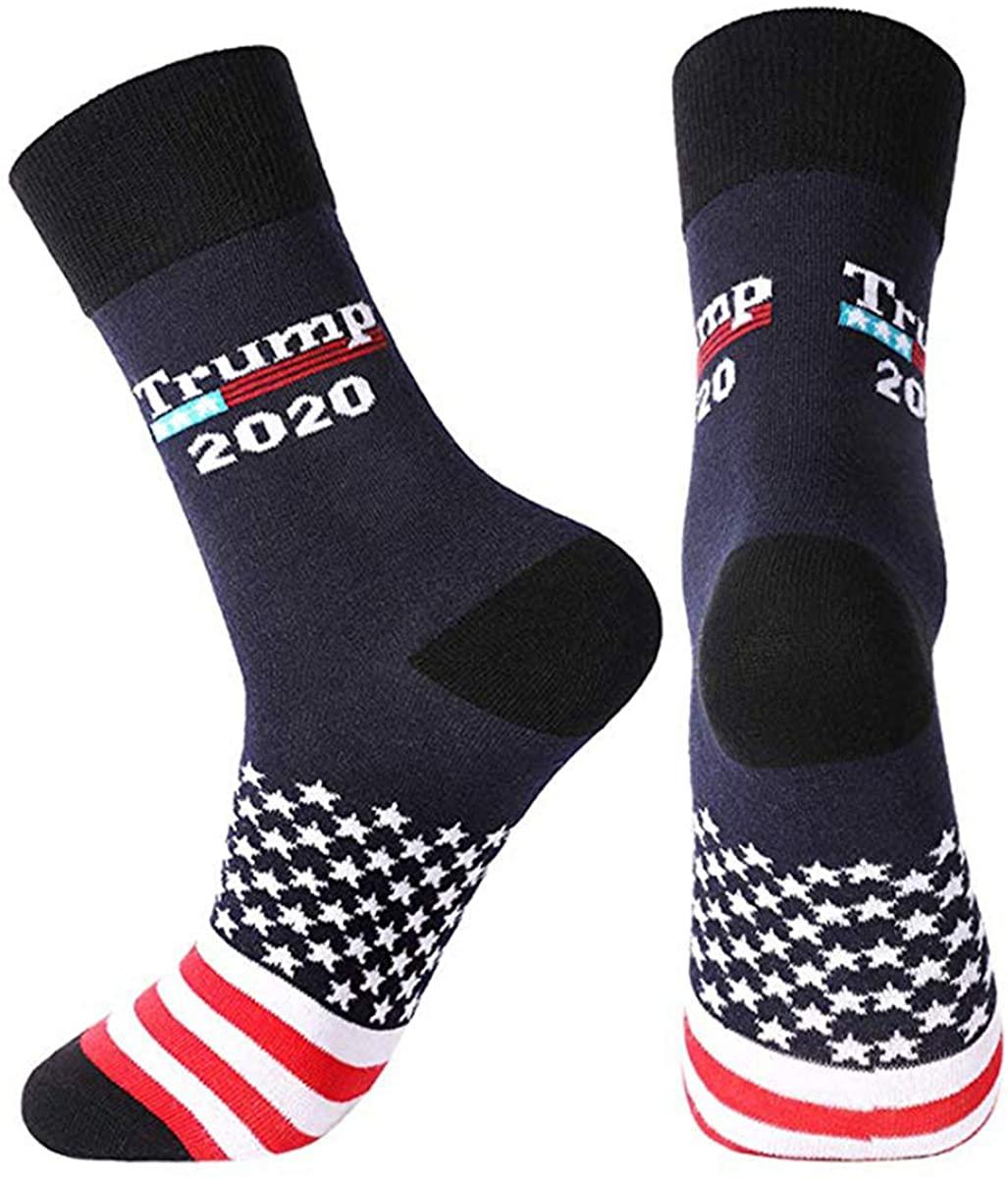2020 Fun Socks American Men Women Crew Ankle Socks America President Novelty Dress Socks