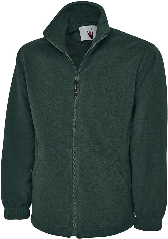 Uneek Clothing-Mens-Premium Zip Micro Fleece Jacket-380 gsm-B/Green-4XL