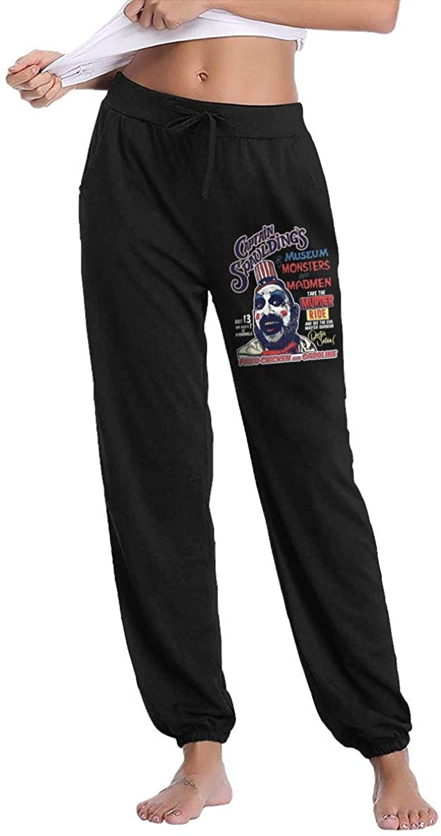 Captain Spaulding Comfortable Women's Casual Drawstring Waist Long Track Pants