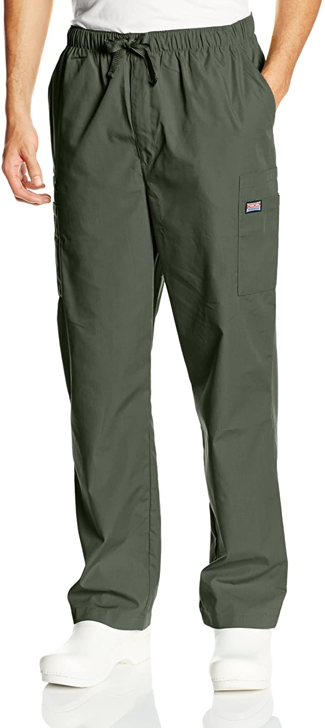 Cherokee Men's Originals Cargo Scrubs Pant, Olive, Small