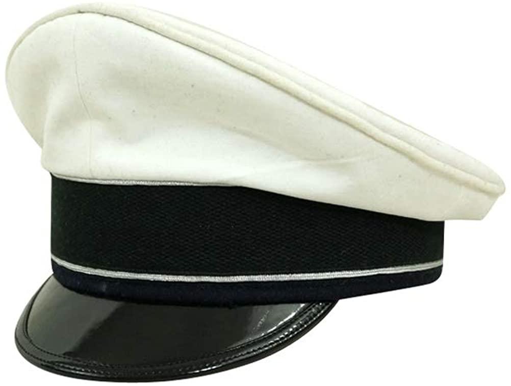 WW2 German Luftwaffe Officer summer white Visor cap