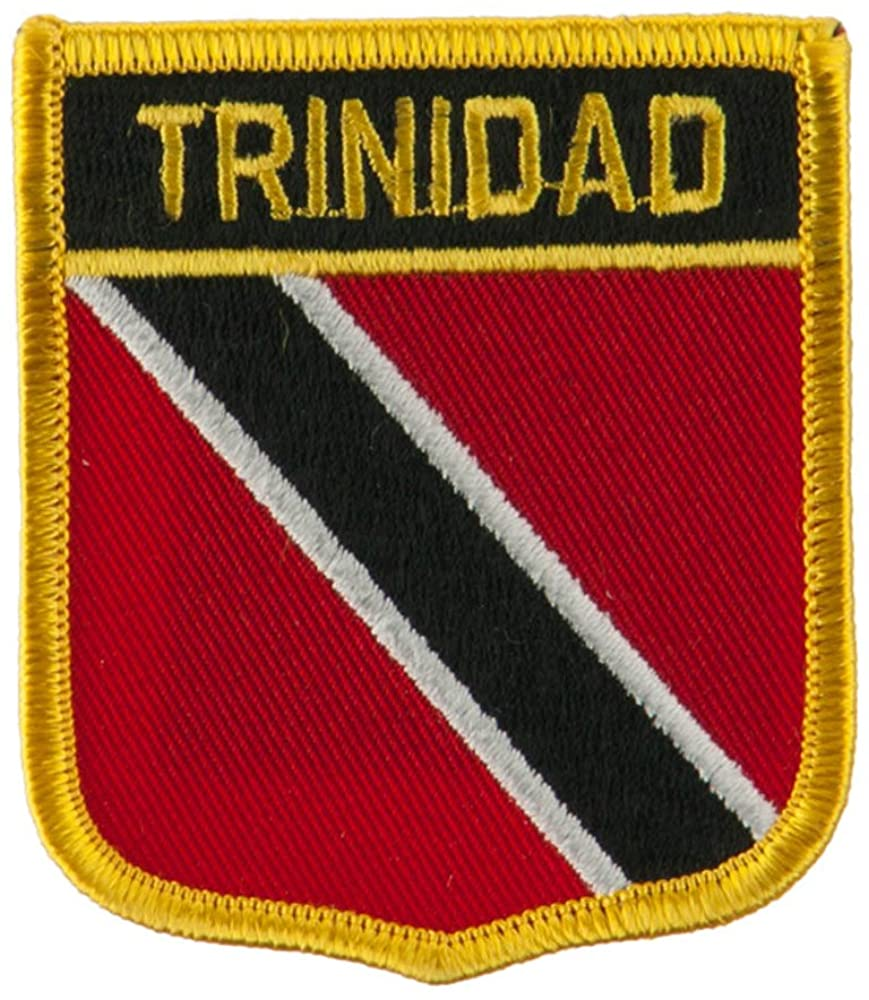North and South America Flag Embroidered Patch Shield - Trinidad W01S12F