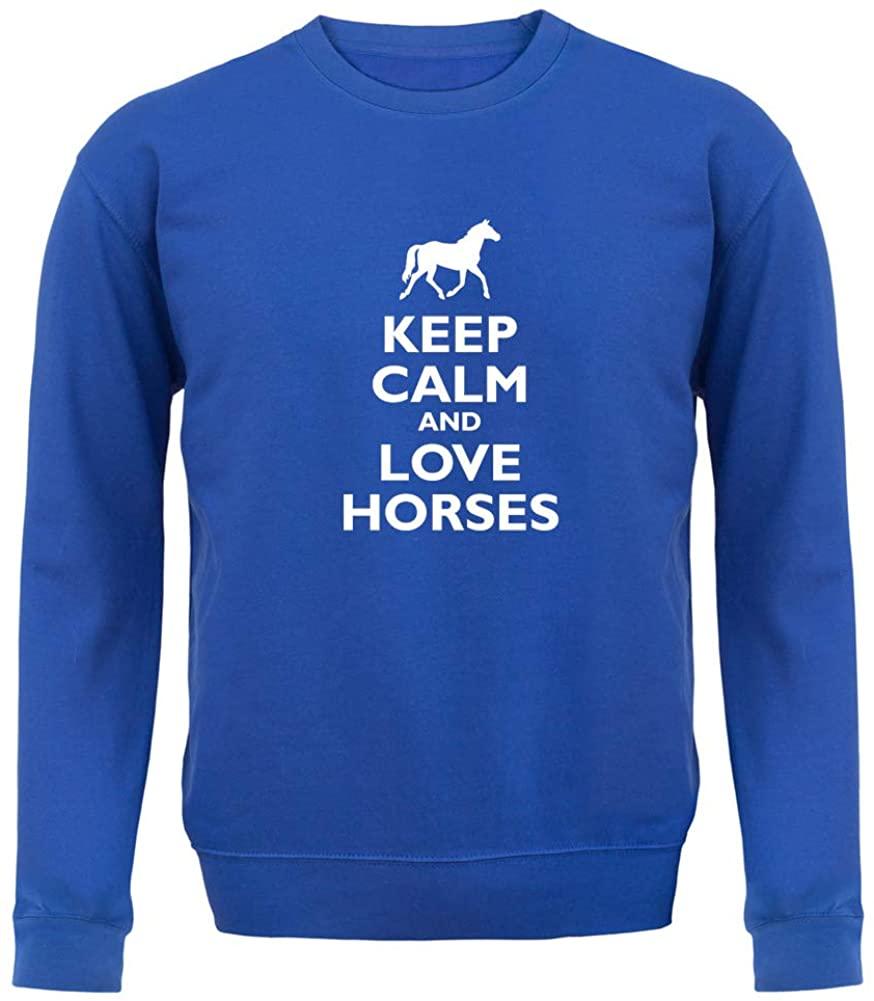 Keep Calm and Love Horses - Unisex Crewneck Sweater/Jumper
