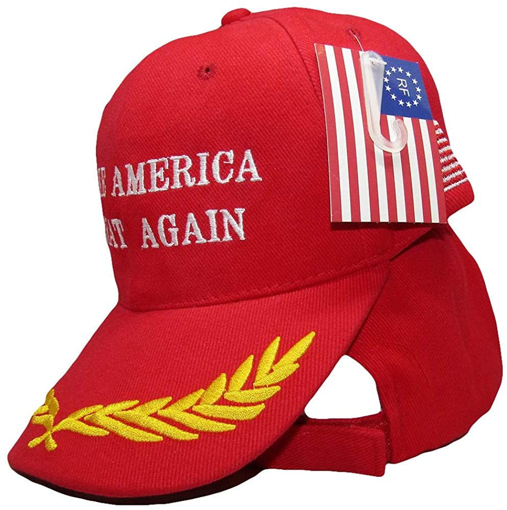 Make America Great Again Eggs & Flag Red Trump Embroidered Hat Cap (RUF)