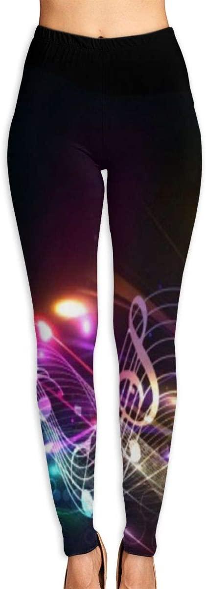 ZZATAA Womans Musical Symbols Guitar Elastic Waist Pencil Yoga Pants Yoga Leggings