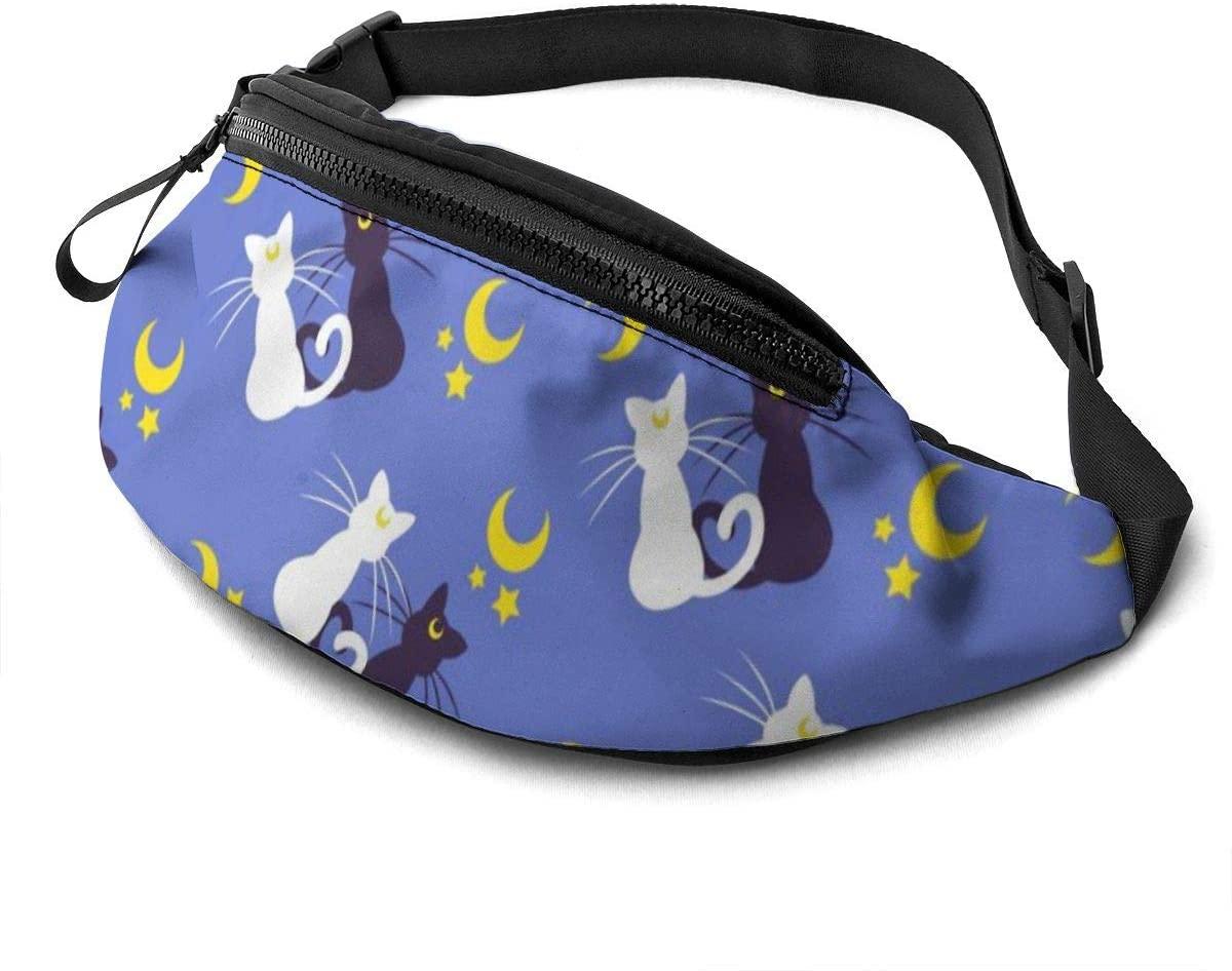 528796530 Fanny Pack for Men Women Waist Pack Bag with Headphone Jack and Zipper Pockets Adjustable Straps