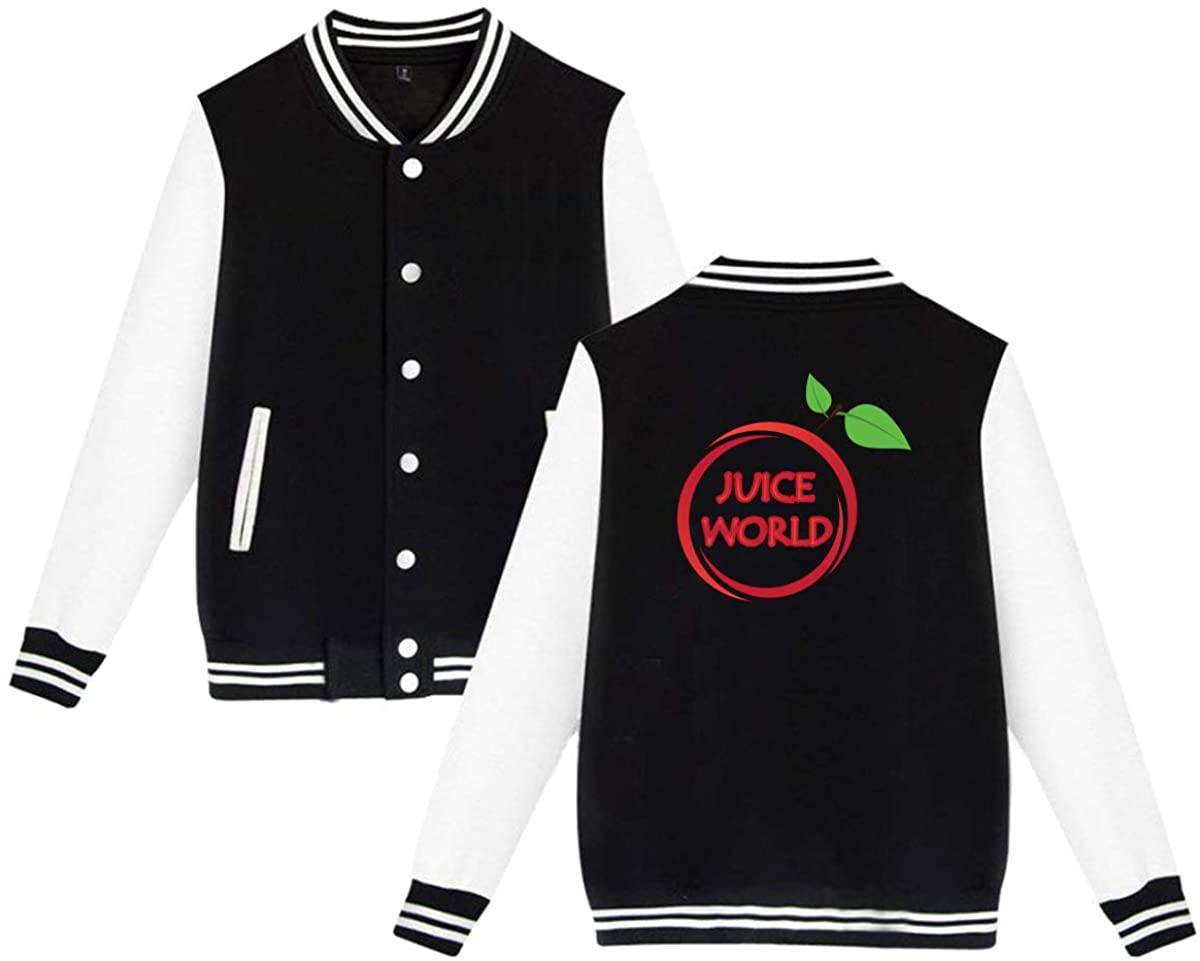 ASIUHAW Juice WRLD Unisex Baseball Jacket Varsity Jacket