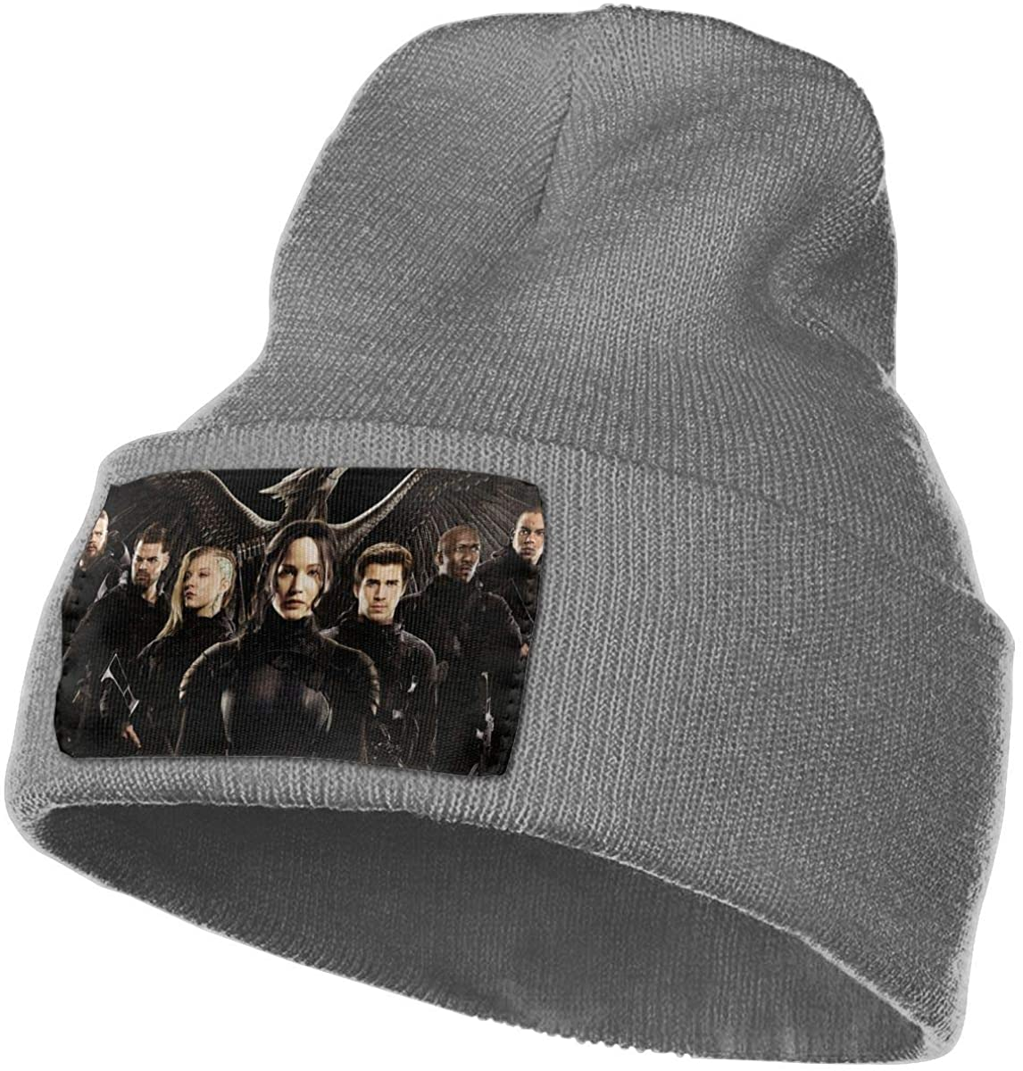 The Hun-ger Games Unisex Fall Winter Warm Knit Cap Beanie Hat Stretchy Ski Cap, 18x30 cm Deep Heather