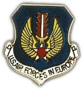 US Air Force Europe Shield Lapel Pin