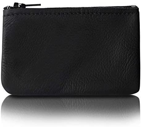Genuine Leather Coin Pouch Change Holder For Men/Woman With Zipper Pouch Size 4 x2.5 Made In U.S.A.